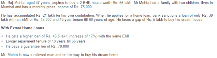 ICICI Bank Extraa Home Loan - Illustration for middle age - salaried customers