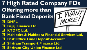 High Rated Company FDs Offering Higher Interest than Bank Fixed Deposit