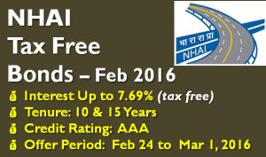 NHAI Tax Free Bond – February 2016