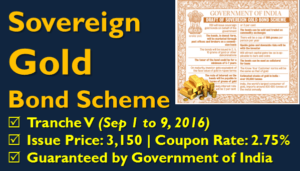 Sovereign Gold Bond Tranche V - Sep 2016