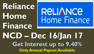 Reliance Home Finance NCD - Dec 2016
