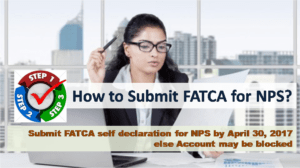 How to submit FATCA declaration for NPS?