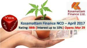 Kosamattam Finance NCD – April 2017