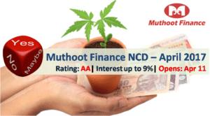 Muthoot Finance NCD – April 2017