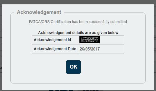 NPS FATCA Online Acknowledgement