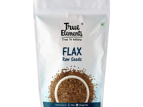 True Elements Raw Flaxseeds for Eating 500gm