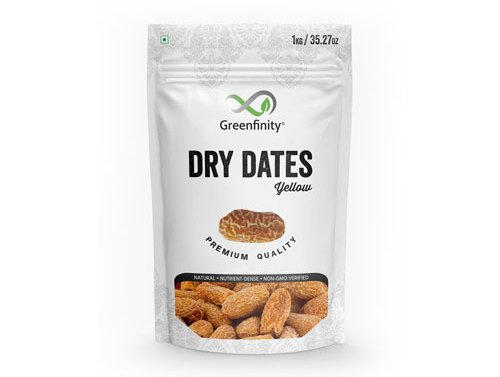 GreenFinity: Yellow Dry Dates - 1Kg | Chuara |