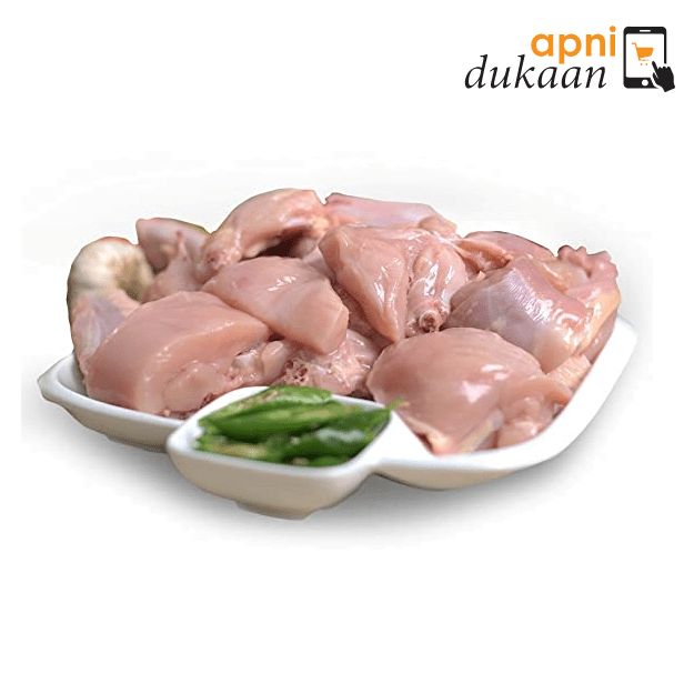 Hand Slaughtered Chicken Size 11 – Cut to Curry Pieces Skin Off