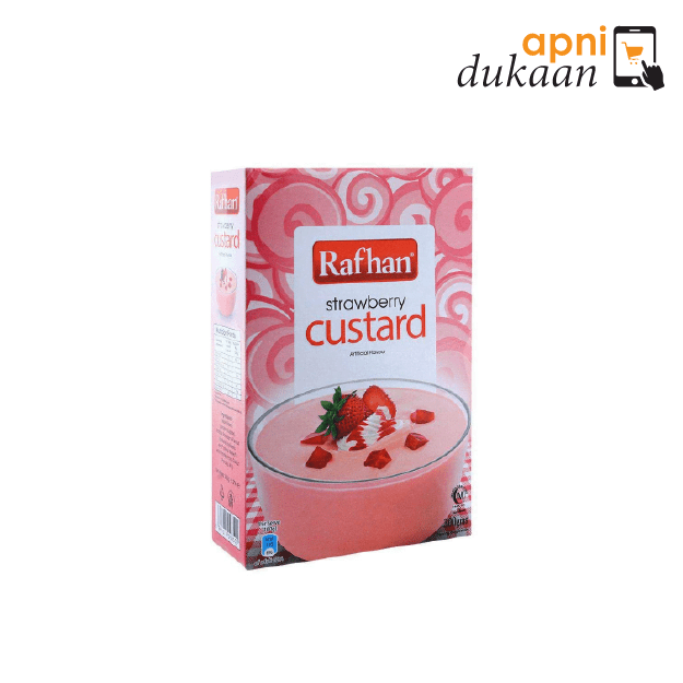 Rafhan Custard Powder – Strawberry 285g