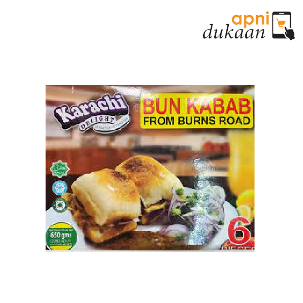 Karachi Delight Bun Kabab from Burns Road 6Pcs