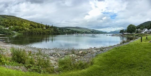 Panoramafoto aufgenommen am Loch Tay, Kenmore in Schottland 2017