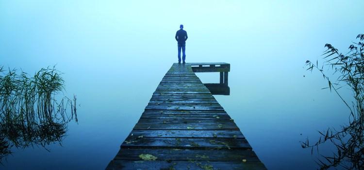 Der erschöpfte Geist - einsamer Steg