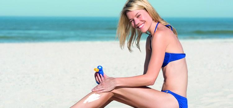 Bräune für jeden Hauttyp - blonde Frau