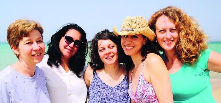 Hyaluronsäure - Gruppe von Frauen