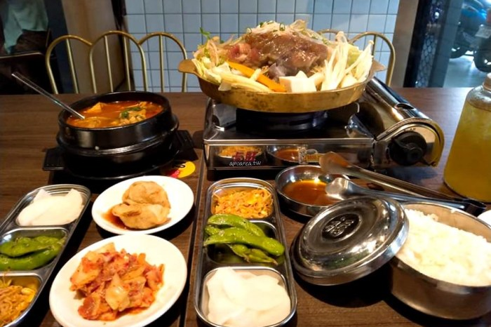 一起肉肉吧|中友百貨對面,韓式定食料理199元起,低消每人一份主餐小菜吃到飽