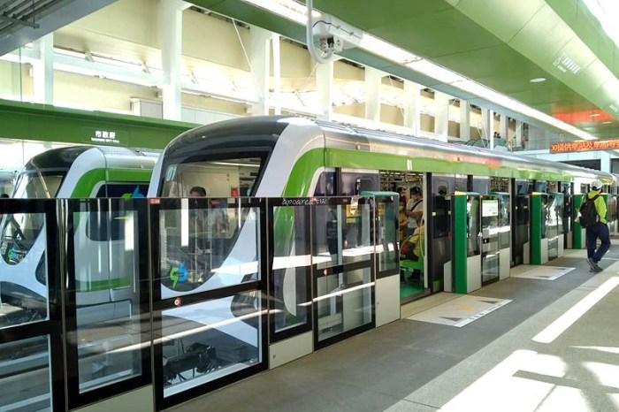 台中捷運市政府站搶先看,候車月台、車廂坐位、全線站名、票價、時刻表
