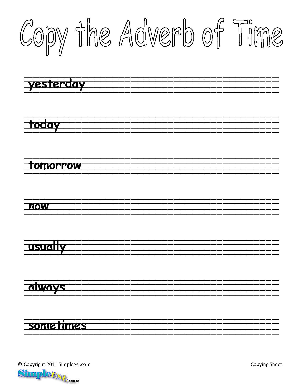 3 Free Grammar Worksheets Adverbs