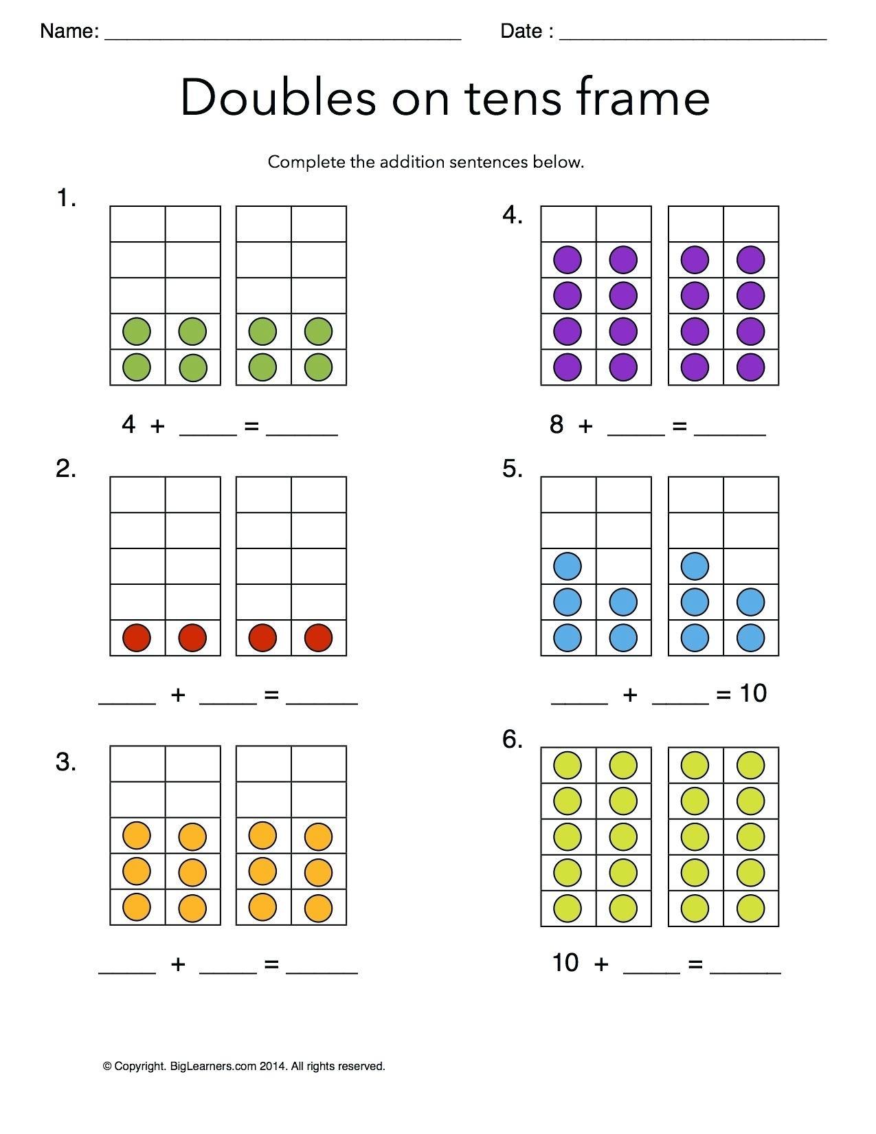Missing Addend Worksheets For Kindergarten