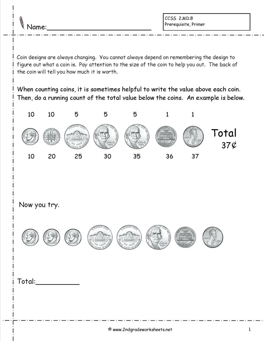 medium resolution of Worksheet Counting Pennies And Nickles   Printable Worksheets and  Activities for Teachers