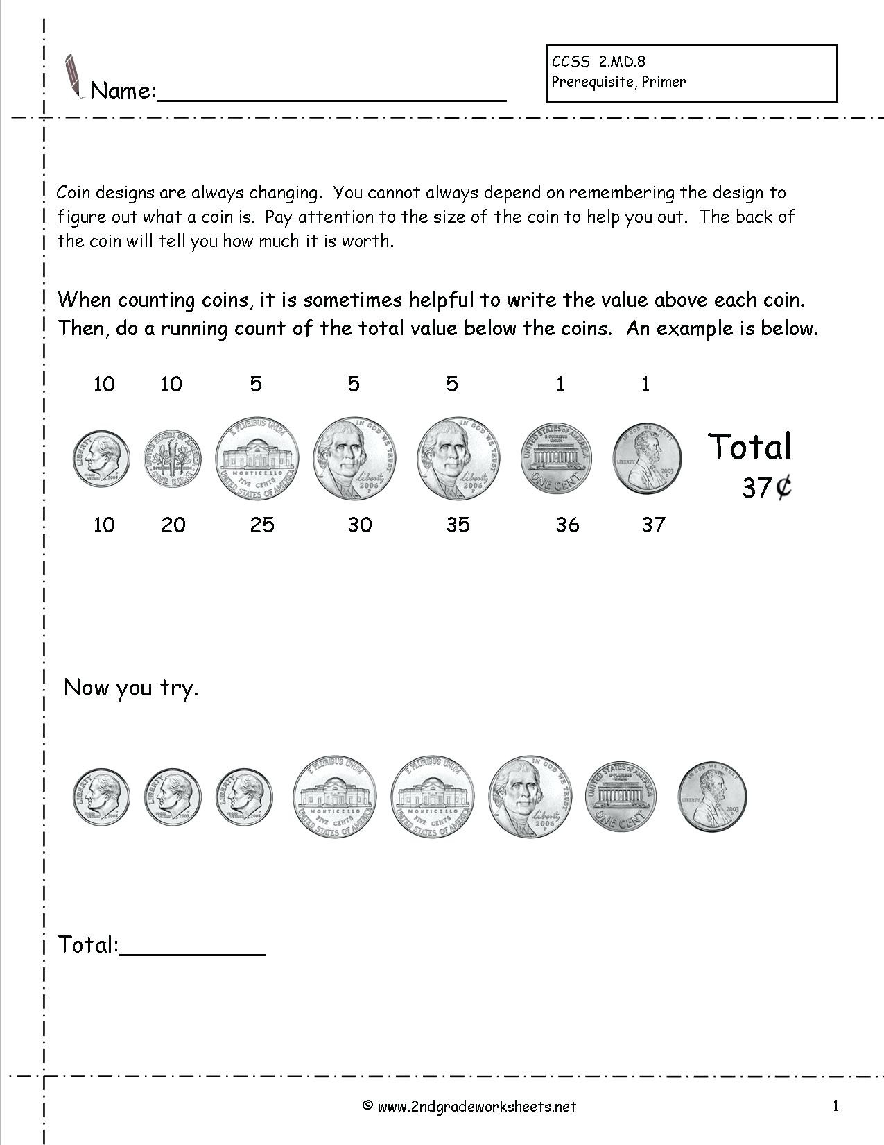 hight resolution of Worksheet Counting Pennies And Nickles   Printable Worksheets and  Activities for Teachers