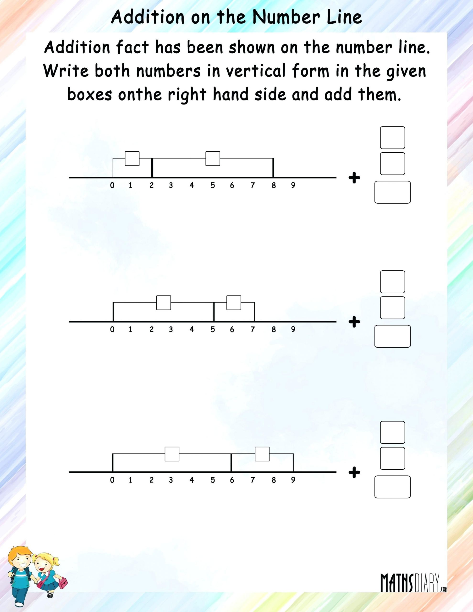 3 Free Math Worksheets First Grade 1 Subtraction Number