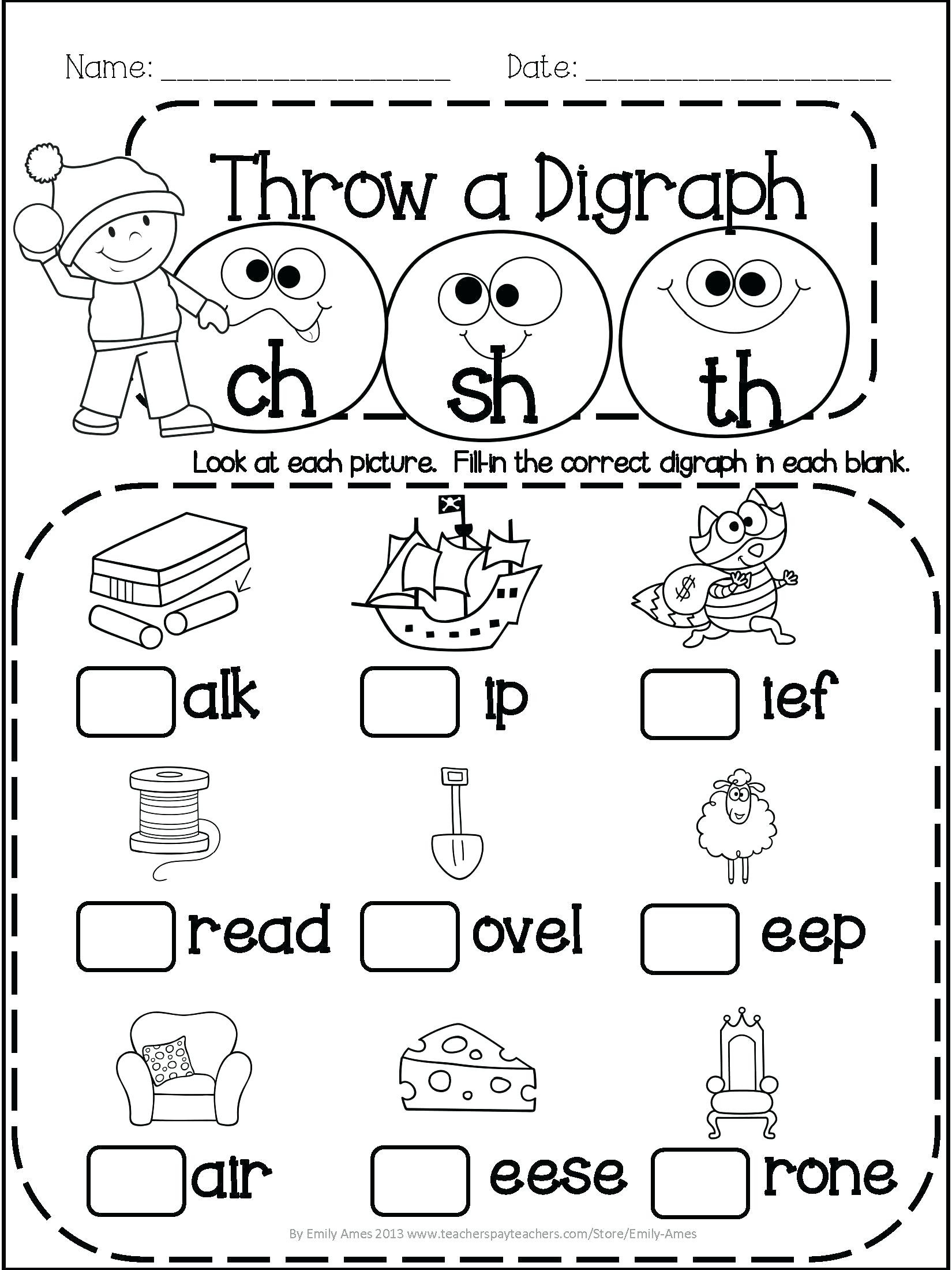 3 Free Math Worksheets First Grade 1 Subtraction Single