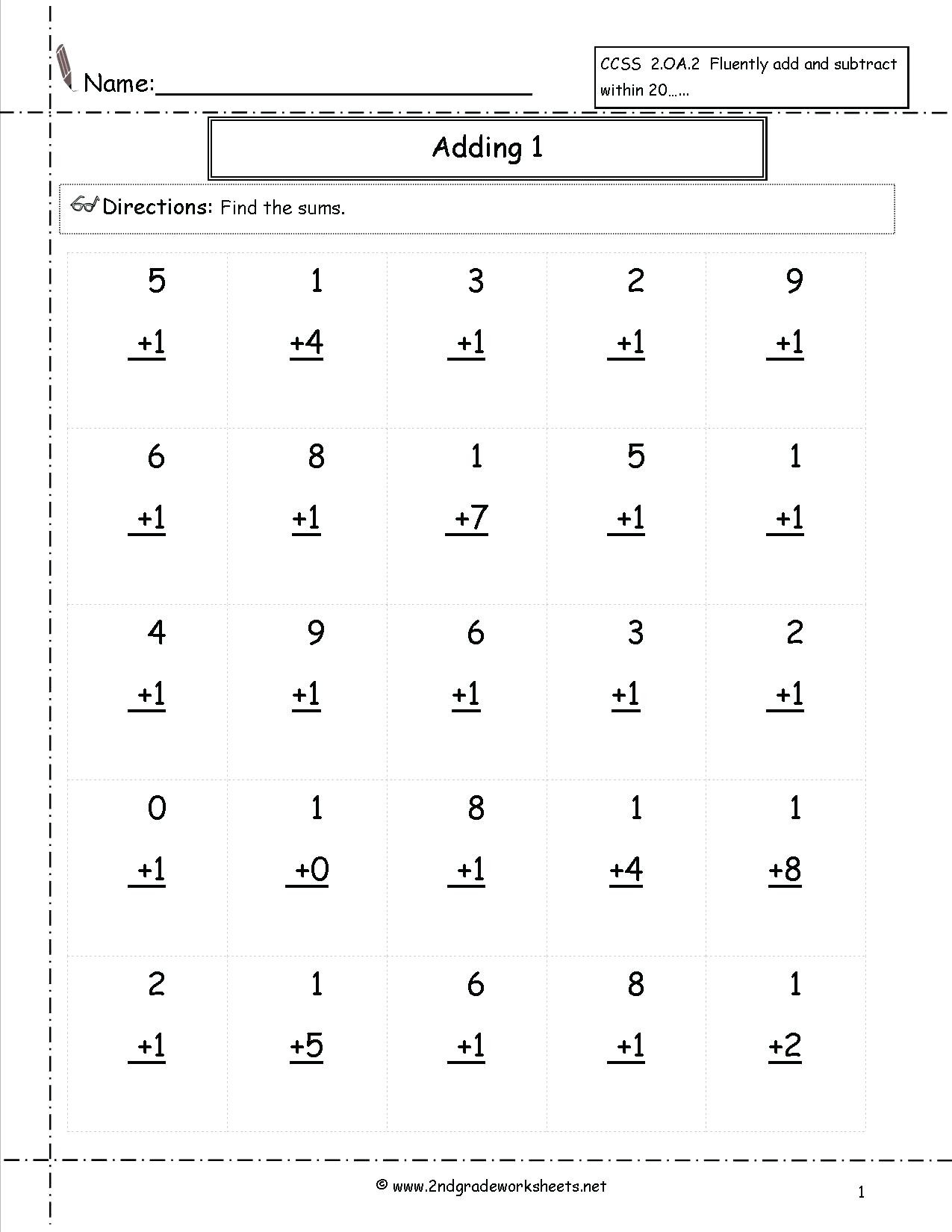 hight resolution of 5 Free Math Worksheets First Grade 1 Subtraction Subtracting 1 Digit From 2  Digit No Regrouping - AMP