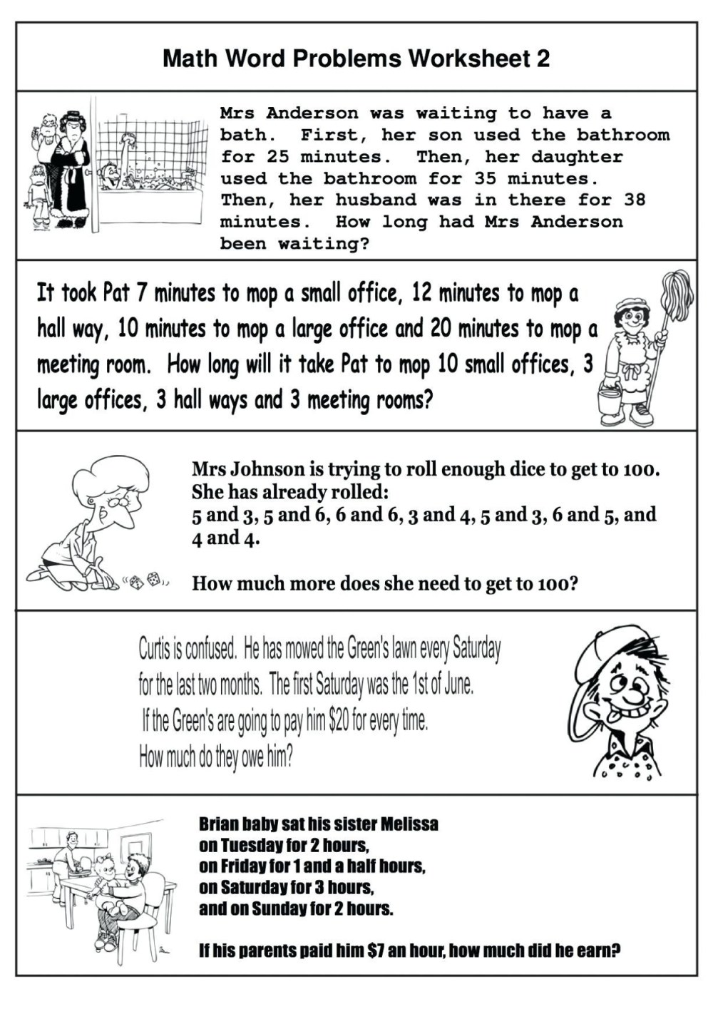 medium resolution of 5 Free Math Worksheets Fourth Grade 4 Addition Adding 3 Digit and 1 Digit  Numbers - apocalomegaproductions.com