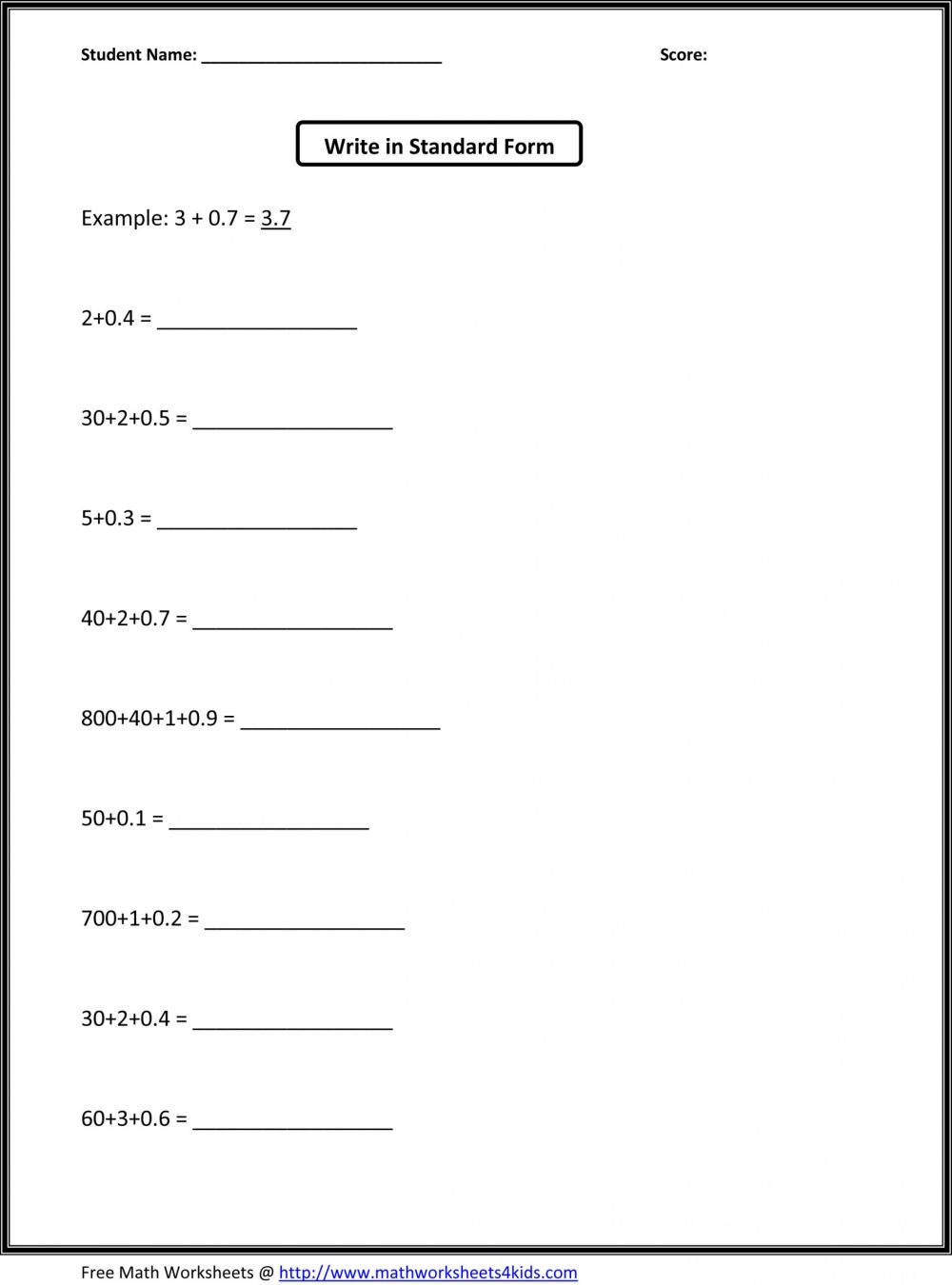 medium resolution of 5 Free Math Worksheets Fourth Grade 4 Addition Adding whole Hundreds 3  Addends - apocalomegaproductions.com