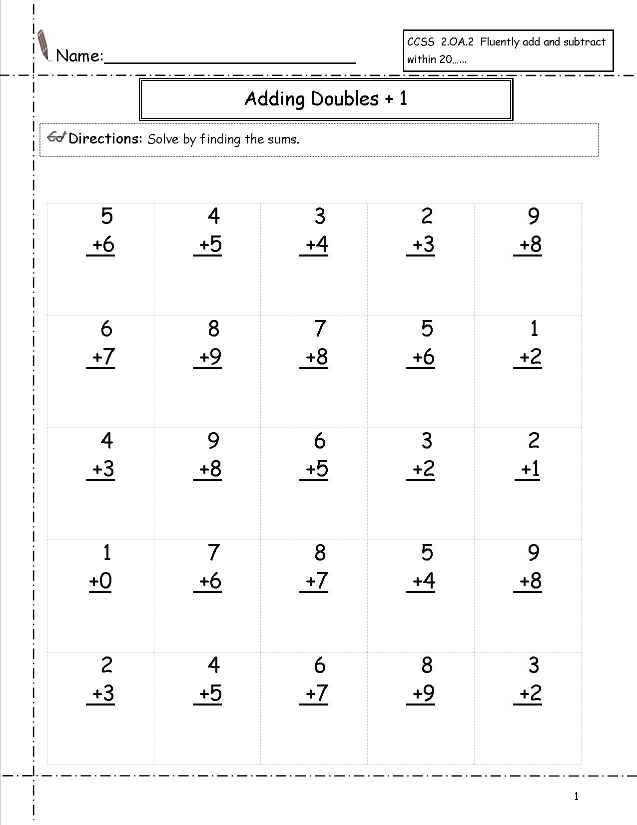 hight resolution of 5 Free Math Worksheets Second Grade 2 Addition Add 2 Digit Plus 1 Digit  Missing Addend No Regrouping - apocalomegaproductions.com