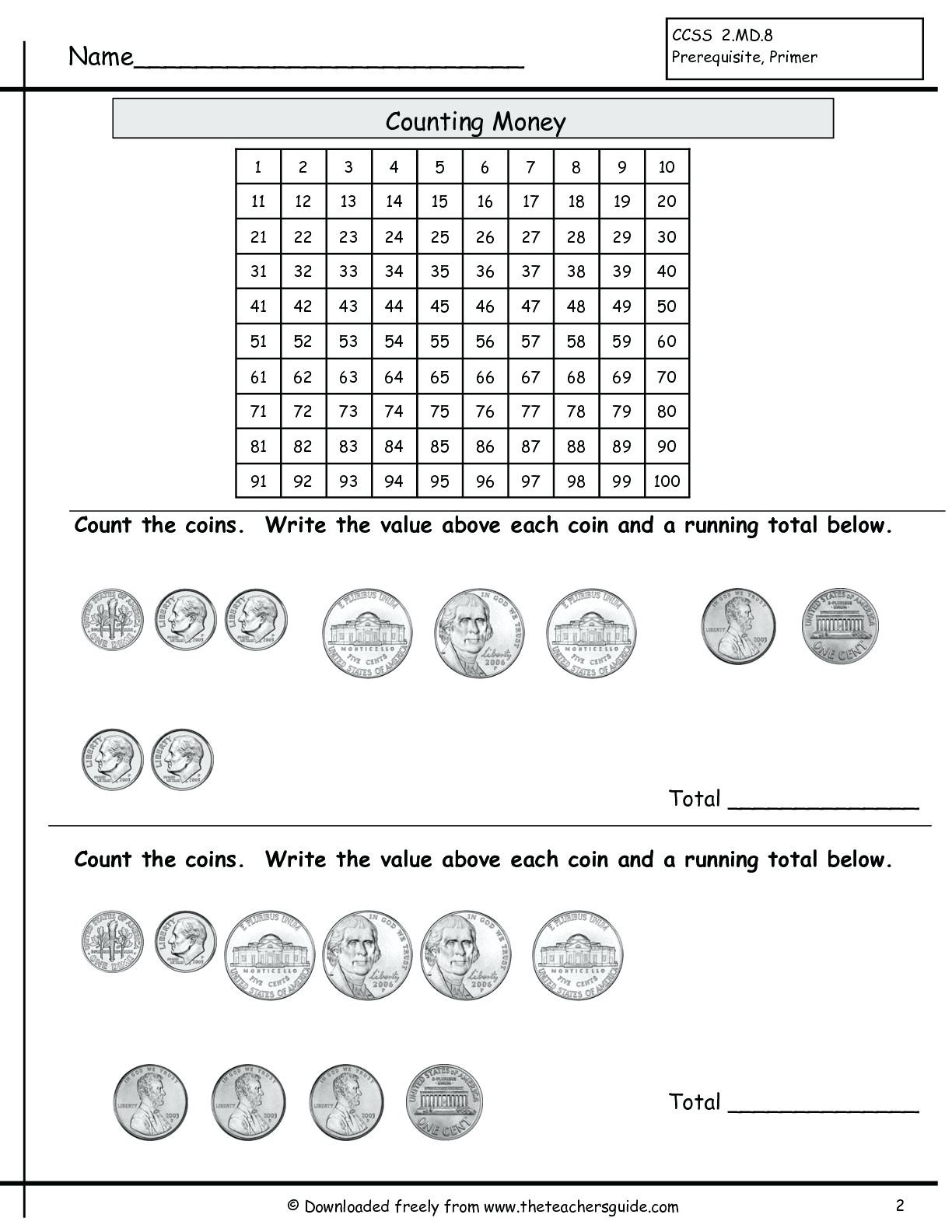 M Math Area Worksheet