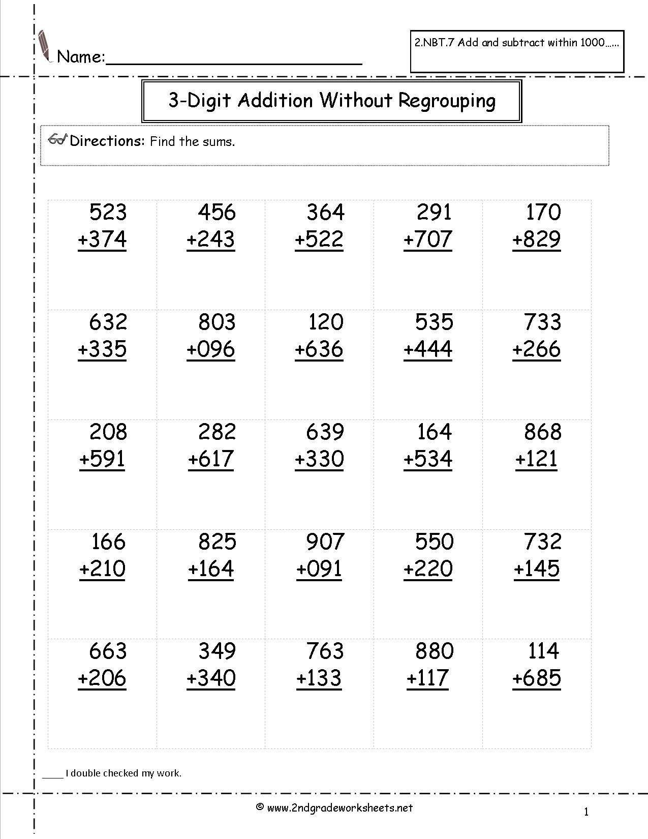 hight resolution of 4 Free Math Worksheets Second Grade 2 Subtraction Subtract 2 Digit Numbers  No Regrouping - apocalomegaproductions.com