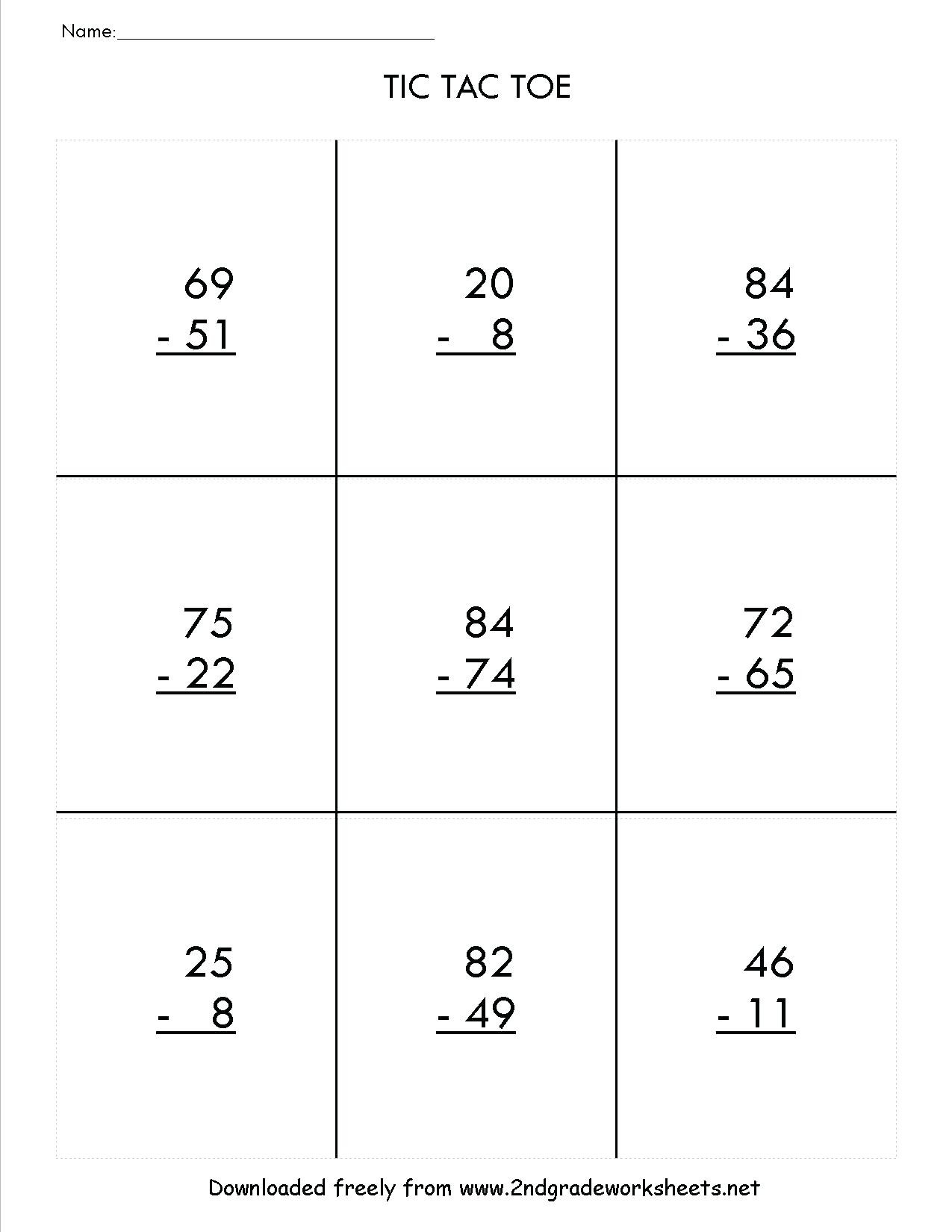 hight resolution of 3 Free Math Worksheets Second Grade 2 Subtraction Subtract Regroup Across  Zeros - apocalomegaproductions.com