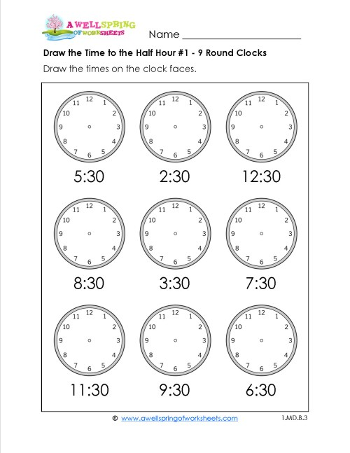 small resolution of 5 Free Math Worksheets Second Grade 2 Telling Time Telling Time 1 Minute  Draw Clock - apocalomegaproductions.com