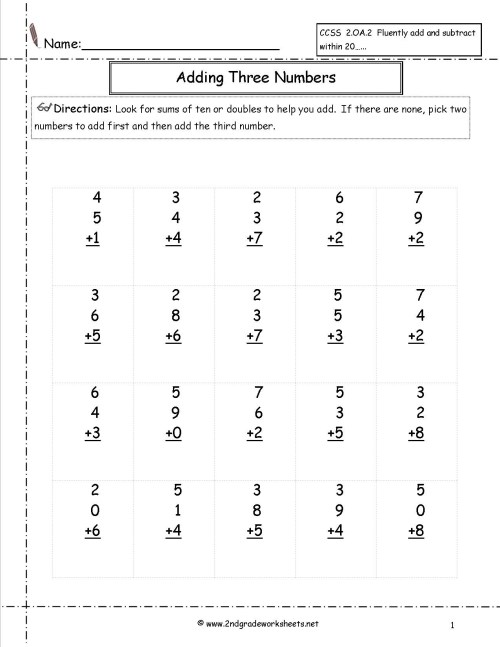 small resolution of 3 Free Math Worksheets Third Grade 3 Addition Adding whole Thousands - AMP