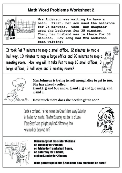 small resolution of 4 Free Math Worksheets Third Grade 3 Addition Word Problems -  apocalomegaproductions.com
