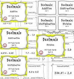3 Free Math Worksheets Third Grade 3 Fractions and Decimals Subtracting  Decimals In Columns 1 Digit - AMP [ 2560 x 2560 Pixel ]
