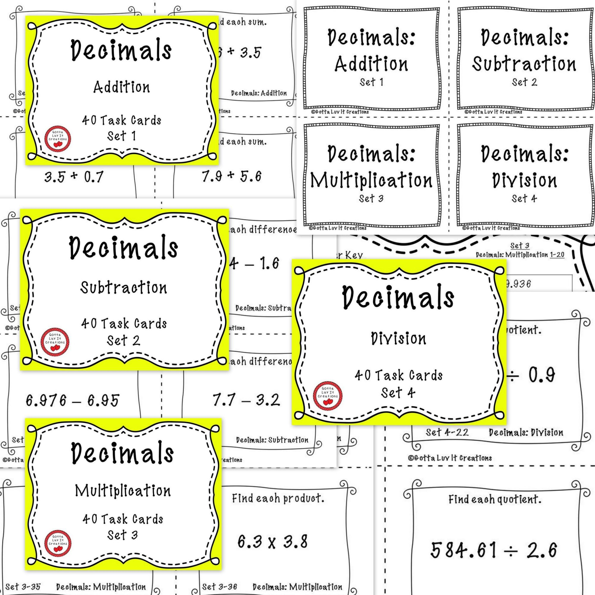 hight resolution of 3 Free Math Worksheets Third Grade 3 Fractions and Decimals Subtracting  Decimals In Columns 1 Digit - AMP