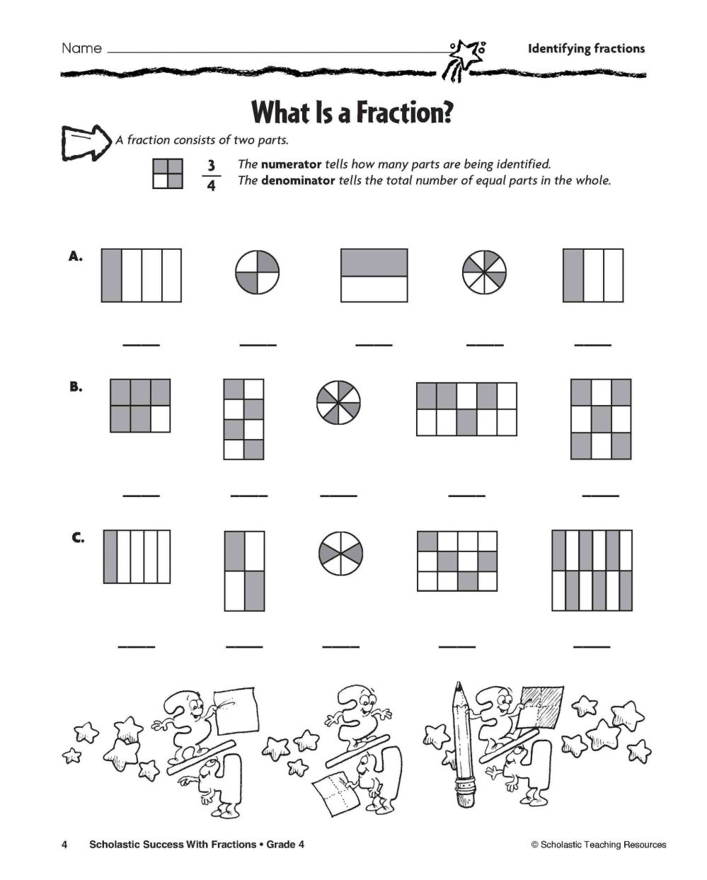 medium resolution of 4 Free Math Worksheets Third Grade 3 Fractions and Decimals Subtracting  Fractions Like Denominators - apocalomegaproductions.com