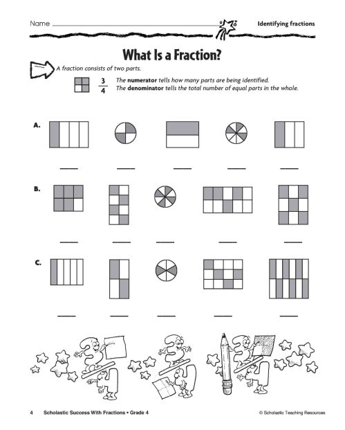 small resolution of 4 Free Math Worksheets Third Grade 3 Fractions and Decimals Subtracting  Fractions Like Denominators - apocalomegaproductions.com