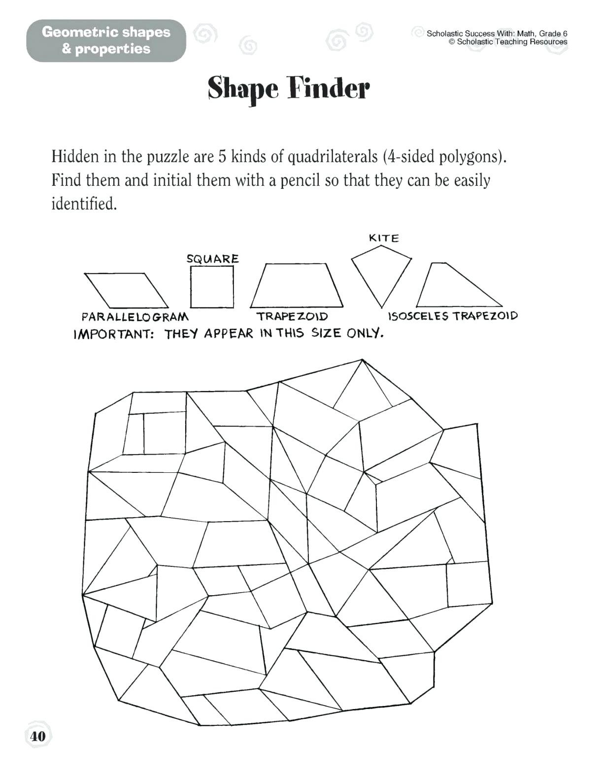 5 New First Grade Geometry Worksheets