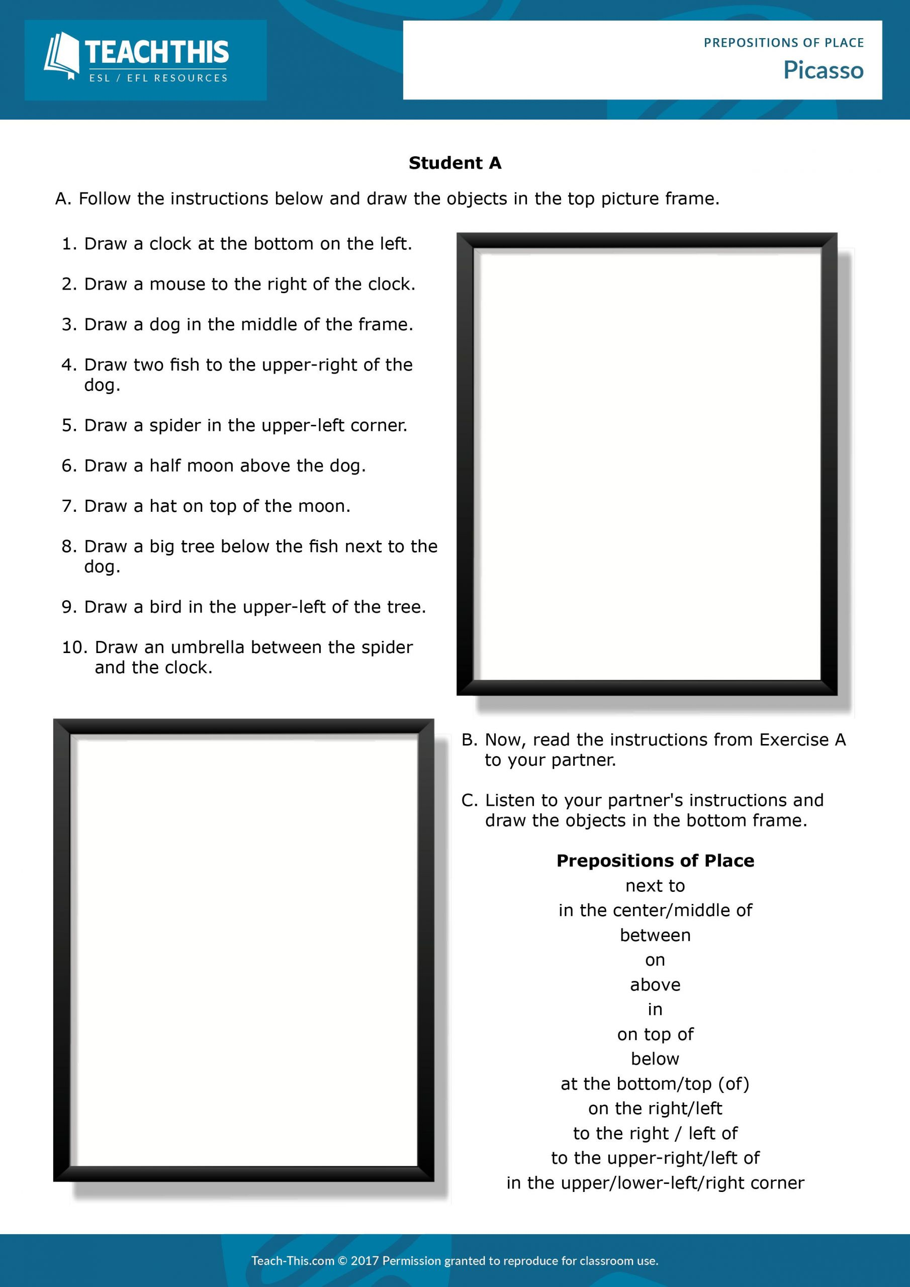 hight resolution of Worksheet Preposition Of Place Grade 3   Printable Worksheets and  Activities for Teachers