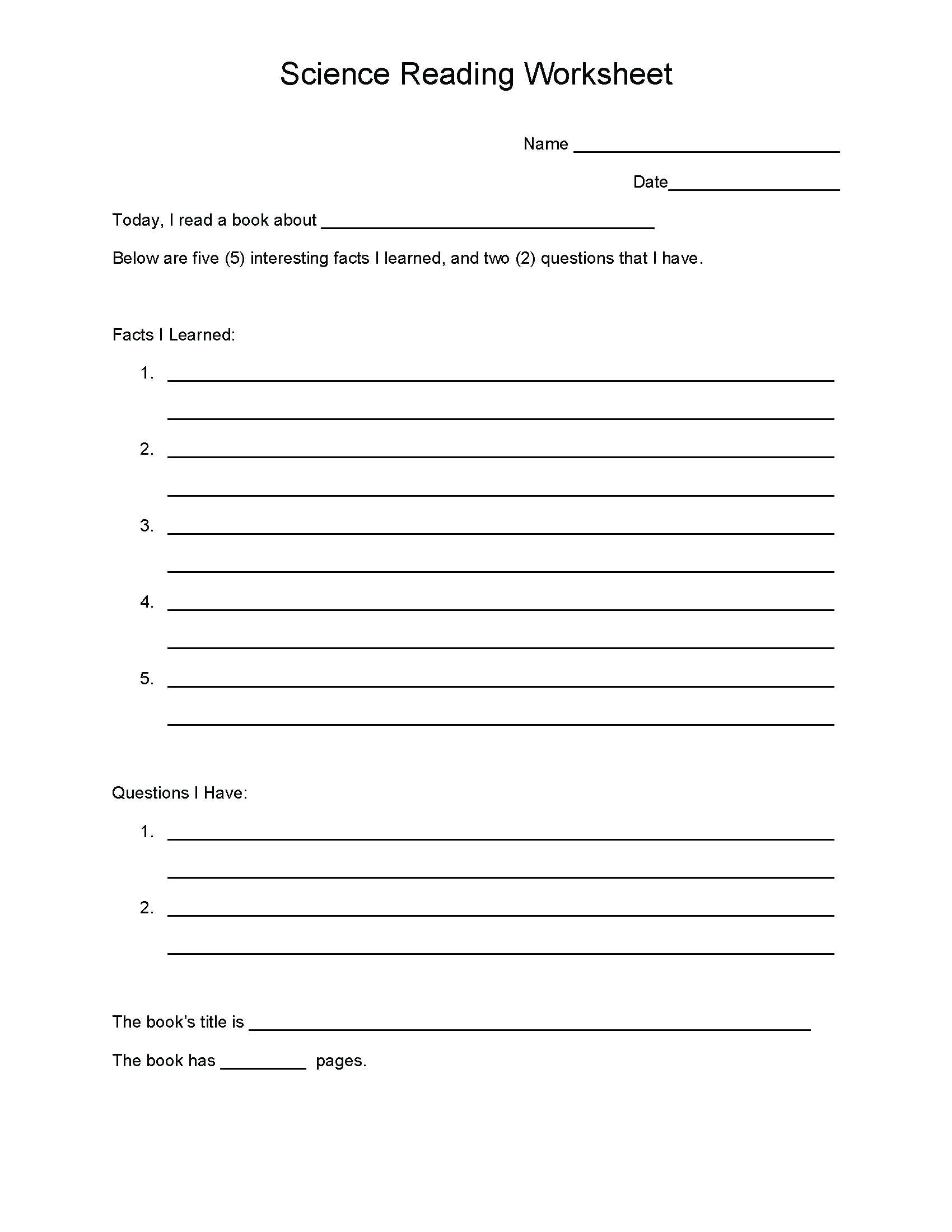 5 Reading Comprehension Worksheets Fifth Grade 5