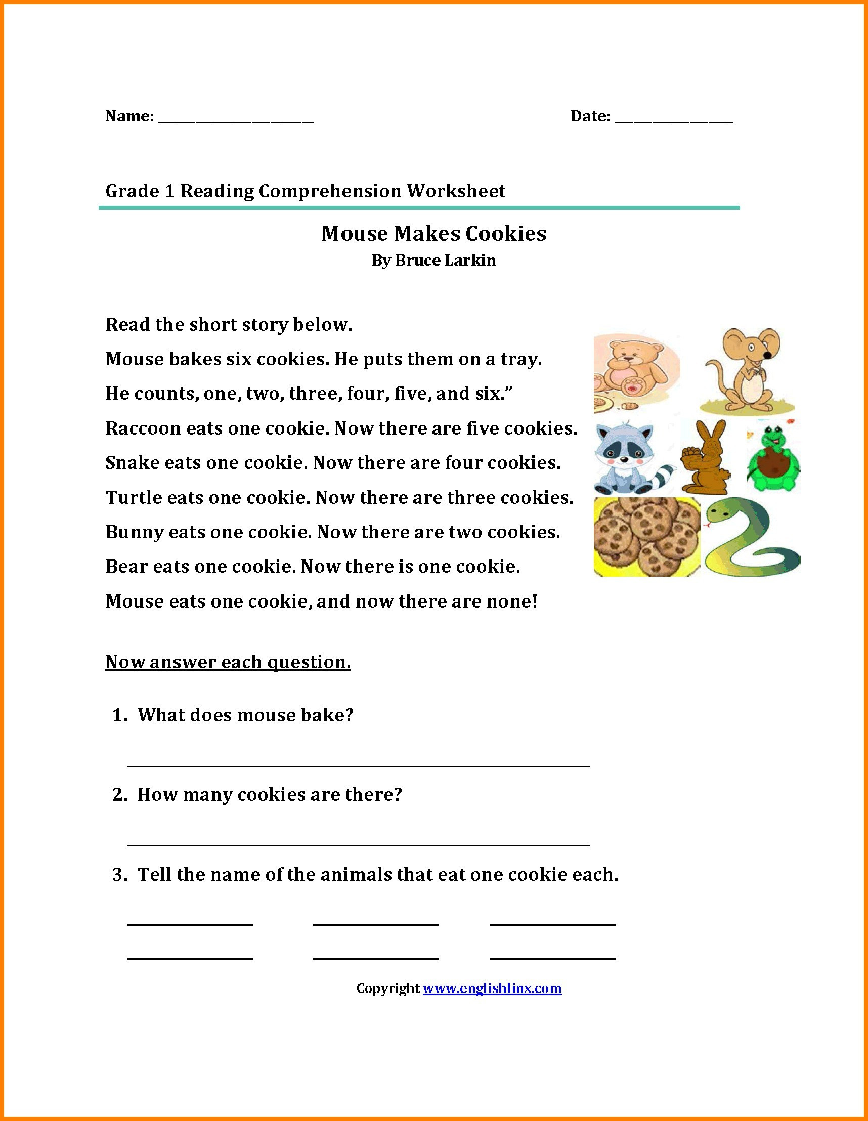 5 Sample Grade 5 Reading Comprehension