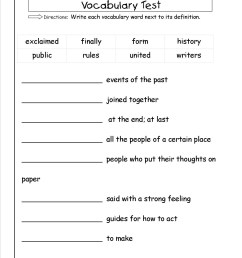 5 Vocabulary Worksheets Second Grade 2 - apocalomegaproductions.com [ 1650 x 1275 Pixel ]