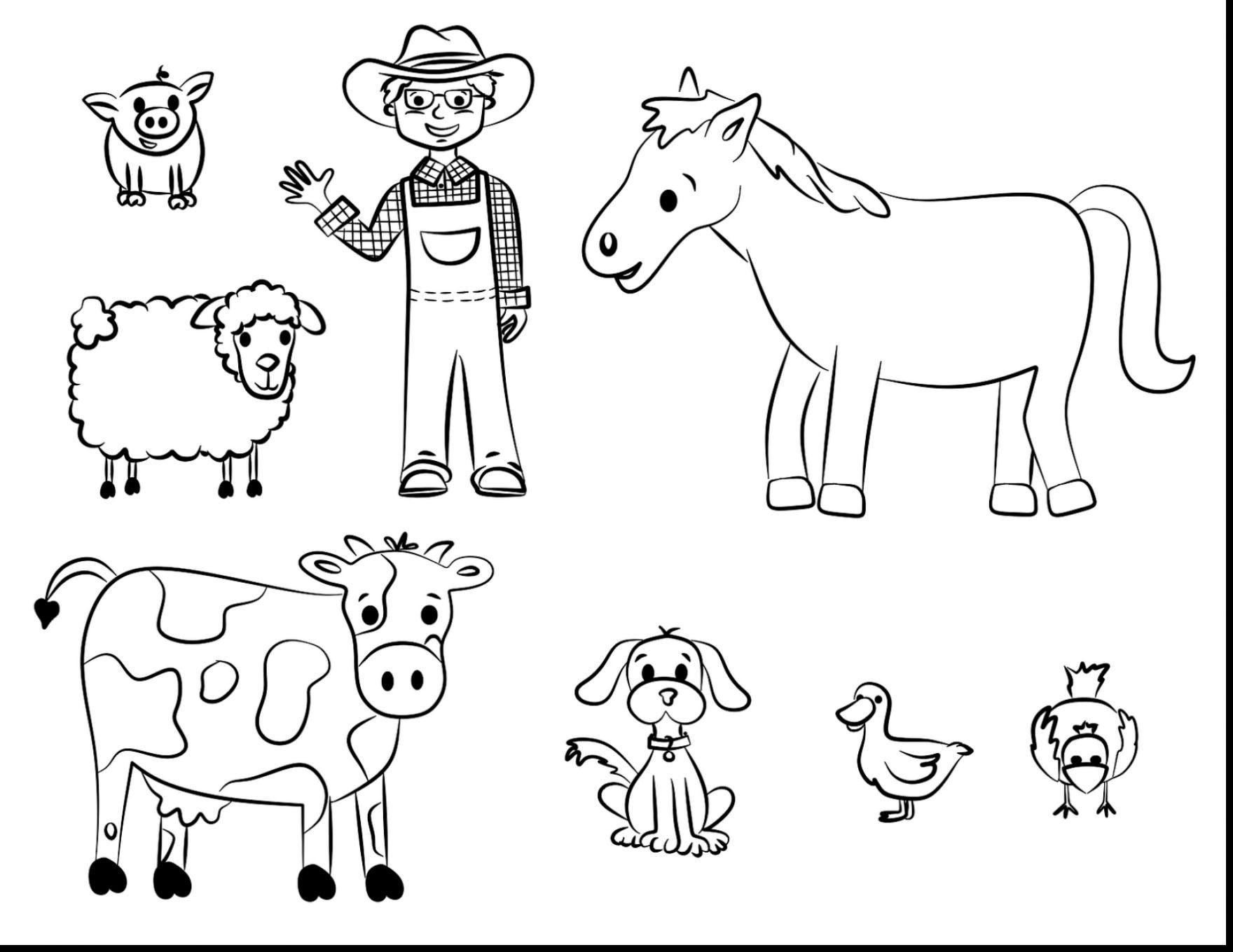 6 Animals Worksheets For Kids Color By Numbers