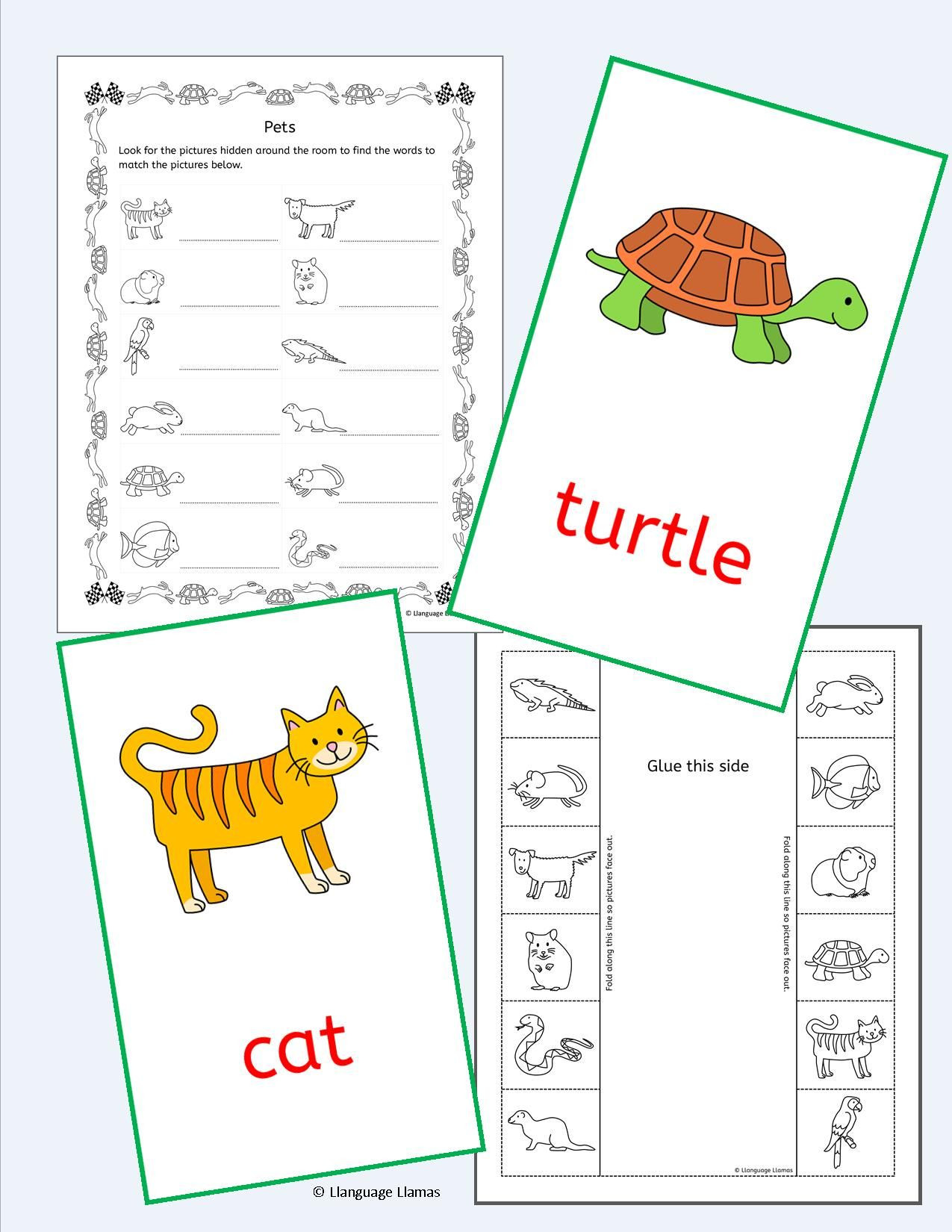 5 Farm Animals Vocabulary Worksheets