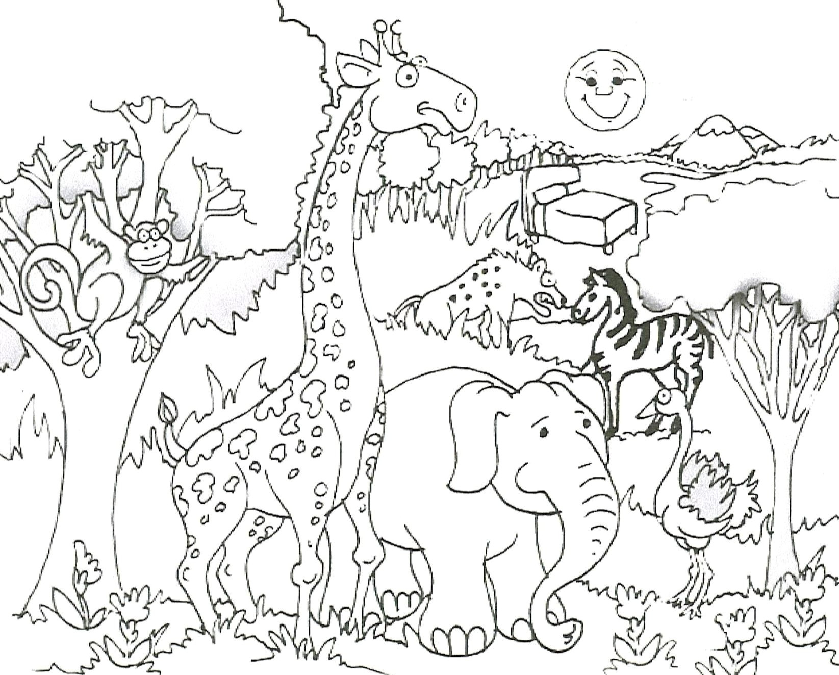 5 Wild Animals Worksheets Printables
