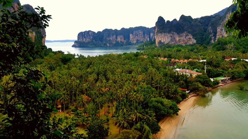 The view from the top of Railay