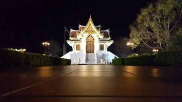 Beautiful temple in Krabi atnight